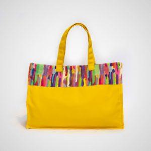 Bolsa playa amarilla multicolor